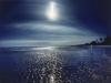 y5852 Bagamoyo. Tanzania. Moon over beach at low-tide. Africa.- Mond ueber Strand bei Ebbe. Bagamoyo. Tansania. Afrika.- 50 MB.Copyright: Obie Oberholzer / Bilderberg