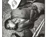 blackandwhiteshots_newspaper_postersleeping_man_durban_sa