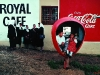 Moraviau Church ladies in front of Royal Café. Elim village. Overberg. Western Cape. South Africa. '99.