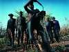 Sugarcane workers sharpening Pangas. Hectospruit area. Mpumalanga. South Africa. '99.