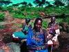 Three Maasai women between Kimana and Makutano. Southern Kenya. '99.
