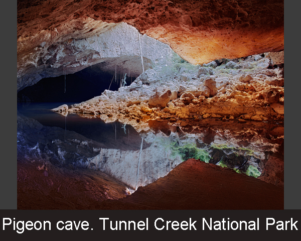 1.Pigeon cave. Tunnel Creek National Park
