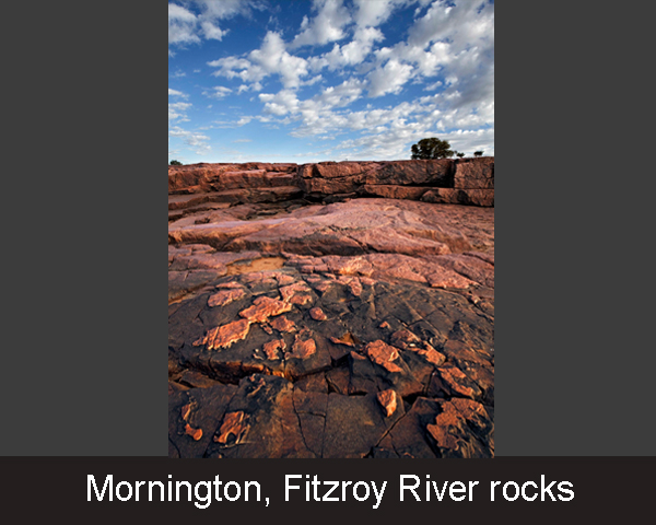 6. Mornington. Fitzroy River rocks