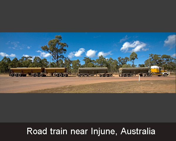 6. Road train near Injune.Australia
