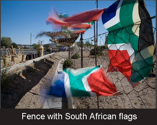 7.Fence with South African flags