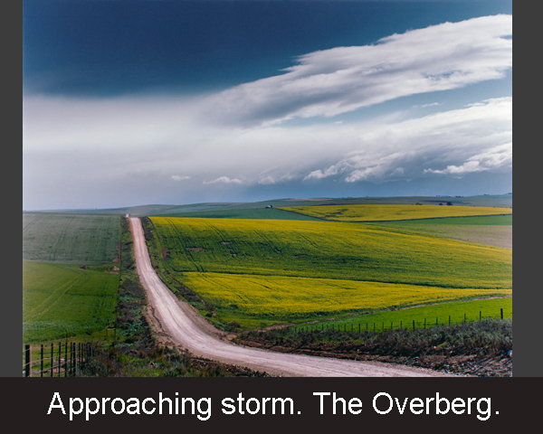 Approaching storm. The Overberg.