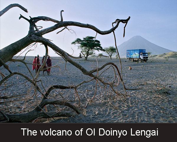The volcano of Ol Doinyo Lengai