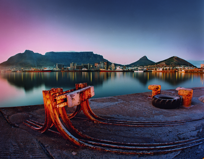 Capetown harbour from Duncan Dock.
