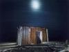 y5852 Mond over abandoned miners shack. Diamond area. Namib Desert. Namibia. Africa.  - Mond ueber verlassene Barracke von Diamantensuchern. Wueste Namib. Namibia. Afrika.  - 50 MB. Copyright: Obie Oberholzer / Bilderberg