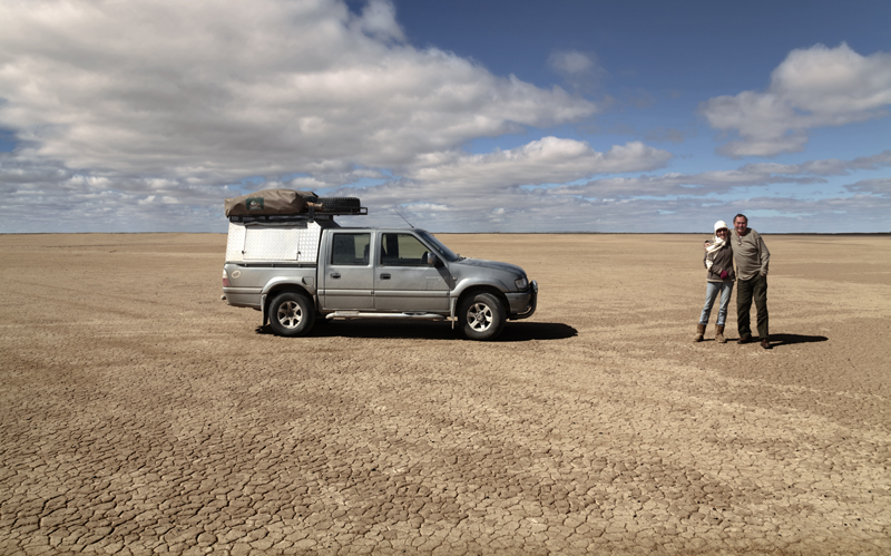 Verneuk Pan, South East of Brandvlei in the northern cape is a large flat area.