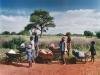 y9860 - Africa, South Africa, Limpopo Province. Kids on their way to collect water from the only pump in a village near Lebowakgomo.  - Afrika, Suedafrika, Limpopo Province. Kinder auf dem Weg zur einzigen Wasserpumpe in einem Dorf bei  Lebowakgomo.   - 63 MB (vorhanden auch in 93 MB).  Copyright: Obie Oberholzer / Bilderberg