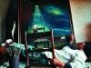 Artist Wendy Malan in her studio. Sabie. Mpumalanga. South Africa. '99.